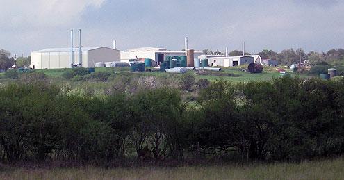 Fiberglass tank plant in Karnes City, TX