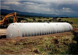 Fiberglass Underground Water Cistern Tank Installation